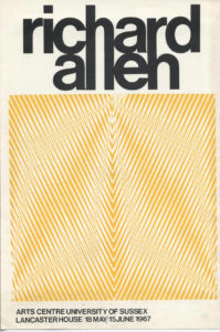 Cover of the 1967 University of Sussex Richard Allen Exhibition Catalgue
