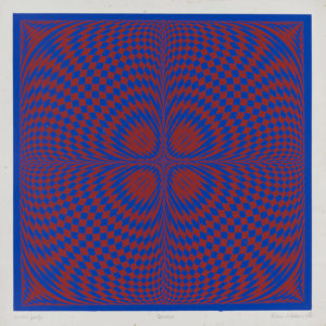 Quadro - Red/Blue, 1968 Op silk screen print
