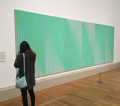 Richard Allen's Six Panel Systems Painting (1972) on display at Tate Britain winter 2016 to spring 2017